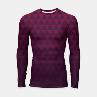 Thumbnail image of Purple Triangles, Geometric Design in Dark Red and Purple Ombre Gradient  Longsleeve rashguard , Live Heroes