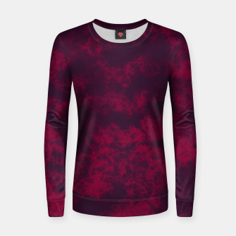Miniaturka Marble Flames in Dark Red and Purple, Abstract Design  Women sweater, Live Heroes
