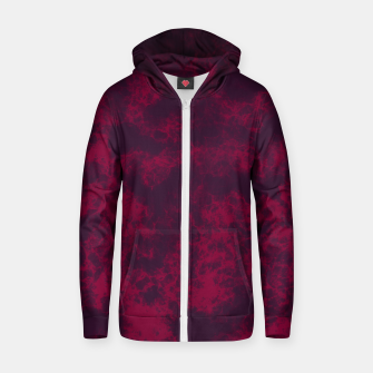 Miniaturka Marble Flames in Dark Red and Purple, Abstract Design  Zip up hoodie, Live Heroes
