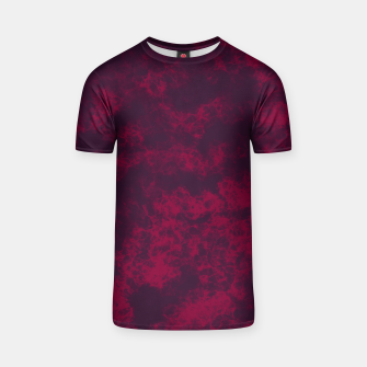 Miniaturka Marble Flames in Dark Red and Purple, Abstract Design  T-shirt, Live Heroes