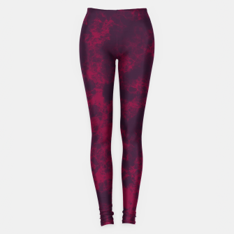 Miniaturka Marble Flames in Dark Red and Purple, Abstract Design  Leggings, Live Heroes