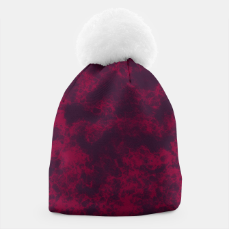 Miniaturka Marble Flames in Dark Red and Purple, Abstract Design  Beanie, Live Heroes