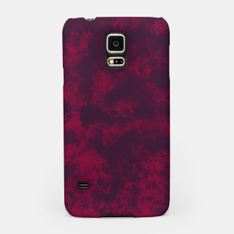 Miniaturka Marble Flames in Dark Red and Purple, Abstract Design  Samsung Case, Live Heroes