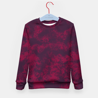 Miniaturka Marble Flames in Dark Red and Purple, Abstract Design  Kid's sweater, Live Heroes