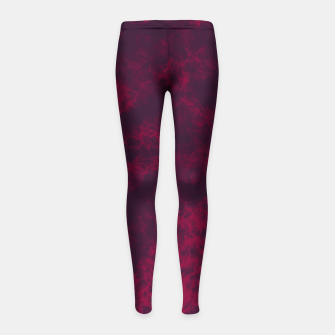 Miniaturka Marble Flames in Dark Red and Purple, Abstract Design  Girl's leggings, Live Heroes