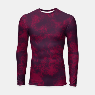 Miniaturka Marble Flames in Dark Red and Purple, Abstract Design  Longsleeve rashguard , Live Heroes