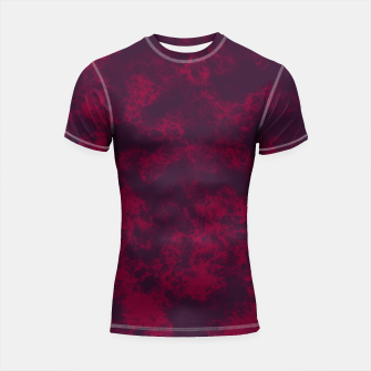 Miniaturka Marble Flames in Dark Red and Purple, Abstract Design  Shortsleeve rashguard, Live Heroes