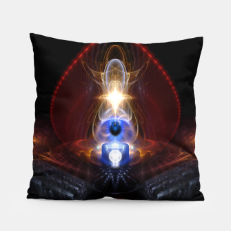 Thumbnail image of The Majesty Of Ooleion Fractal Art Composition Pillow, Live Heroes