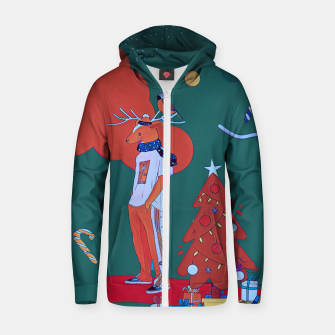 Thumbnail image of Christmas  Zip up hoodie, Live Heroes