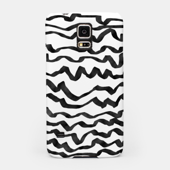 Miniature de image de Energetic Calligraphic Lines in Black and White, Modern Doodle Pattern, Zebra Print Samsung Case, Live Heroes