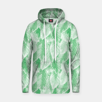 Thumbnail image of Green Watercolor Tropical Leaves  Hoodie, Live Heroes