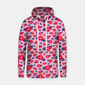 Thumbnail image of Hibiscus Floral Pattern in Pink and Blue  Hoodie, Live Heroes