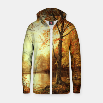 Thumbnail image of Indian Summer by William Trost Richards Zip up hoodie, Live Heroes