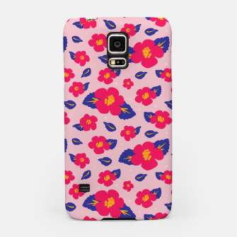 Thumbnail image of Hibiscus Floral Pattern in Pink and Blue  Samsung Case, Live Heroes