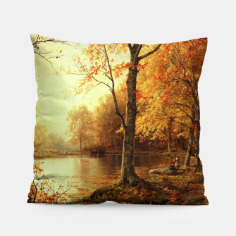 Thumbnail image of Indian Summer by William Trost Richards Pillow, Live Heroes