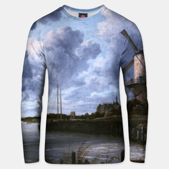 Thumbnail image of The Windmill at Wijk bij Duurstede by Jacob van Ruisdael Unisex sweater, Live Heroes