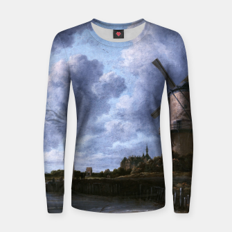 Thumbnail image of The Windmill at Wijk bij Duurstede by Jacob van Ruisdael Women sweater, Live Heroes