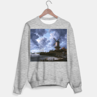 Thumbnail image of The Windmill at Wijk bij Duurstede by Jacob van Ruisdael Sweater regular, Live Heroes