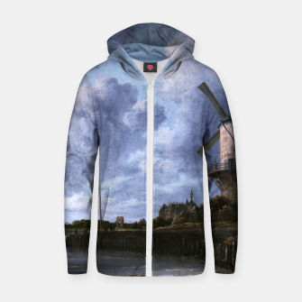 Thumbnail image of The Windmill at Wijk bij Duurstede by Jacob van Ruisdael Zip up hoodie, Live Heroes