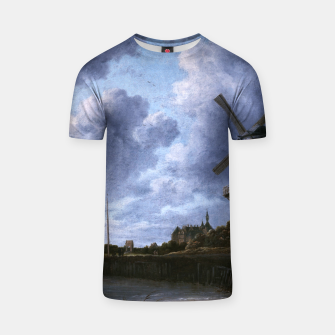 Thumbnail image of The Windmill at Wijk bij Duurstede by Jacob van Ruisdael T-shirt, Live Heroes