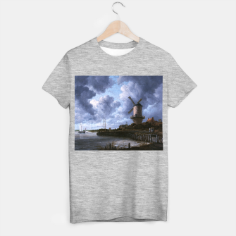 Thumbnail image of The Windmill at Wijk bij Duurstede by Jacob van Ruisdael T-shirt regular, Live Heroes