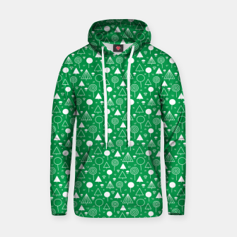Thumbnail image of Woods Pattern in Green and White Outline  Hoodie, Live Heroes