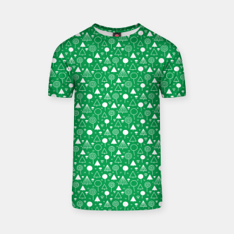 Thumbnail image of Woods Pattern in Green and White Outline  T-shirt, Live Heroes