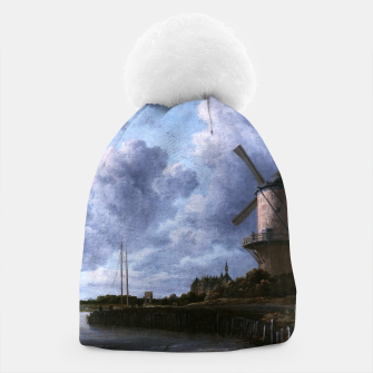 Thumbnail image of The Windmill at Wijk bij Duurstede by Jacob van Ruisdael Beanie, Live Heroes