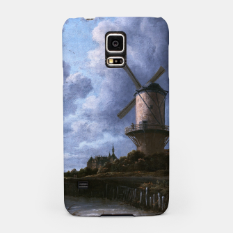Thumbnail image of The Windmill at Wijk bij Duurstede by Jacob van Ruisdael Samsung Case, Live Heroes