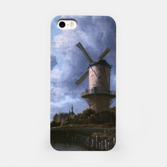 Thumbnail image of The Windmill at Wijk bij Duurstede by Jacob van Ruisdael iPhone Case, Live Heroes