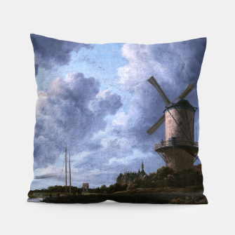 Thumbnail image of The Windmill at Wijk bij Duurstede by Jacob van Ruisdael Pillow, Live Heroes
