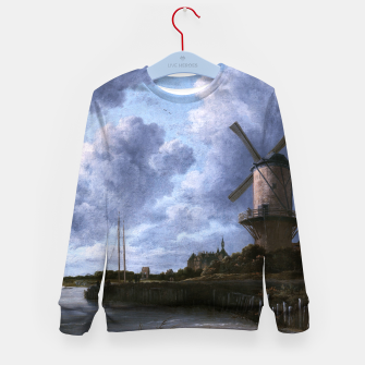 Thumbnail image of The Windmill at Wijk bij Duurstede by Jacob van Ruisdael Kid's sweater, Live Heroes