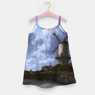 Thumbnail image of The Windmill at Wijk bij Duurstede by Jacob van Ruisdael Girl's dress, Live Heroes