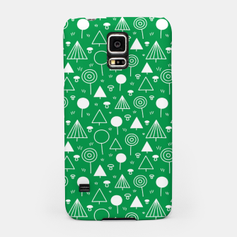 Thumbnail image of Woods Pattern in Green and White Outline  Samsung Case, Live Heroes