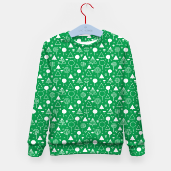 Thumbnail image of Woods Pattern in Green and White Outline  Kid's sweater, Live Heroes