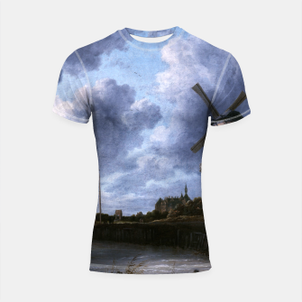 Thumbnail image of The Windmill at Wijk bij Duurstede by Jacob van Ruisdael Shortsleeve rashguard, Live Heroes