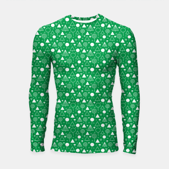 Thumbnail image of Woods Pattern in Green and White Outline  Longsleeve rashguard , Live Heroes
