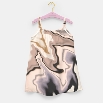 Miniature de image de Abstract dark digital watercolor 15 Vestido para niñas, Live Heroes