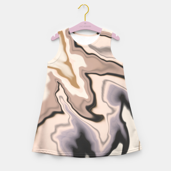 Thumbnail image of Abstract dark digital watercolor 15 Vestido de verano para niñas, Live Heroes