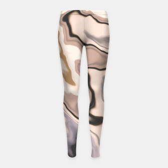 Miniature de image de Abstract dark digital watercolor 15 Leggings para niña, Live Heroes