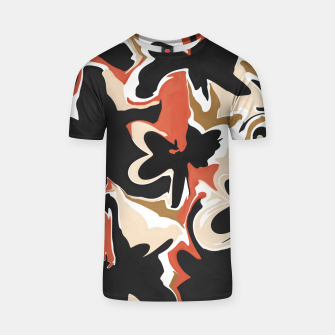 Miniature de image de Modern floral abstract Camiseta, Live Heroes