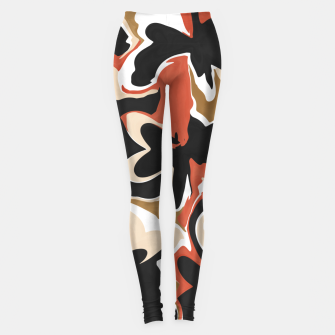 Miniature de image de Modern floral abstract Leggings, Live Heroes
