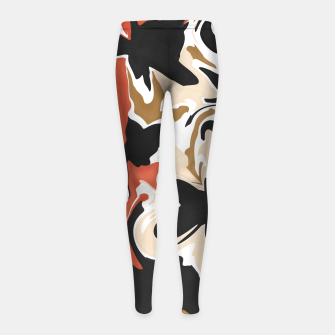 Miniature de image de Modern floral abstract Leggings para niña, Live Heroes