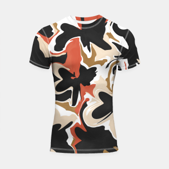 Thumbnail image of Modern floral abstract Shortsleeve rashguard, Live Heroes