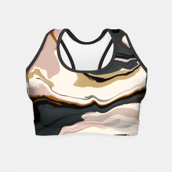 Thumbnail image of Digital marbling 47 Crop Top, Live Heroes