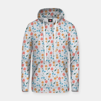 Beautiful Abstract Modern Wildflowers, Blooming Scandinavian Pattern and Print in Trendy Colors Hoodie obraz miniatury