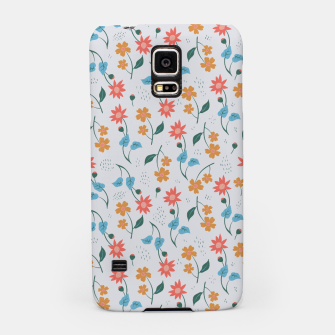 Beautiful Abstract Modern Wildflowers, Blooming Scandinavian Pattern and Print in Trendy Colors Samsung Case obraz miniatury