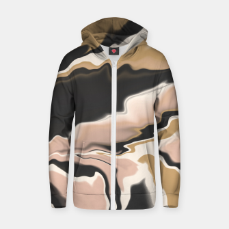 Thumbnail image of Marbled brushstrokes 108 Sudadera con capucha y cremallera , Live Heroes