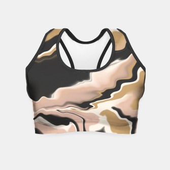 Thumbnail image of Marbled brushstrokes 108 Crop Top, Live Heroes