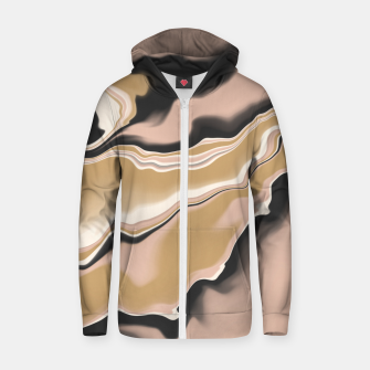 Thumbnail image of Marbled brushstrokes digital 108 Sudadera con capucha y cremallera , Live Heroes